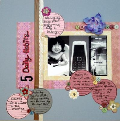 5 Daily Habits Scrapbooking Layout