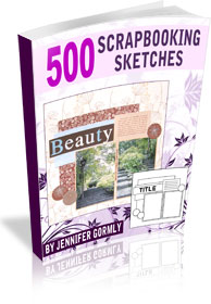 Right column images of 500 Scrapbooking Sketches eBook