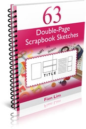 Right column images of 63 Double-Page Scrapbook Sketches eBook