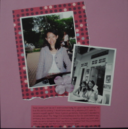 Scrapbook layout about my birthday celebration with friends