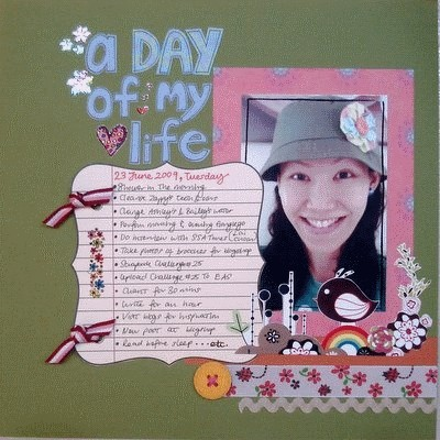 A Day of My Life Scrapbooking Layout