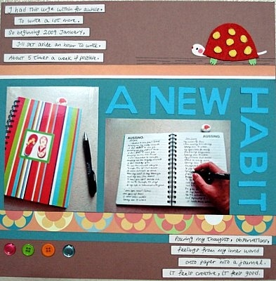 A New Habit Scrapbooking Layout