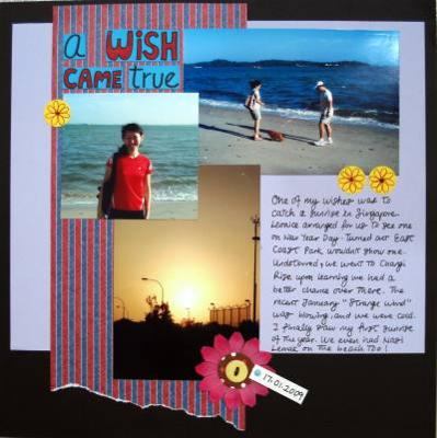 A Wish Came True Scrapbooking Layout