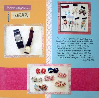 Accessories I Wear Scrapbooking Layout