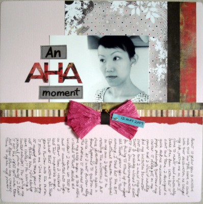 An Aha Moment Scrapbooking Layout