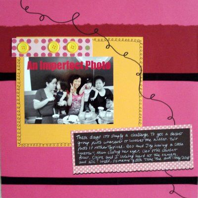 An Imperfect Photo Scrapbooking Layout