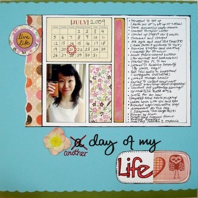 Another Day Of My Life Scrapbooking Layout