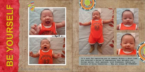Digital layout on the different expressions of my baby son Kaden.