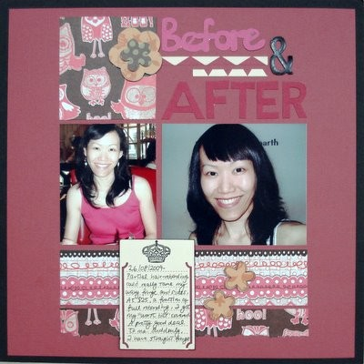 Before and After Scrapbooking Layout