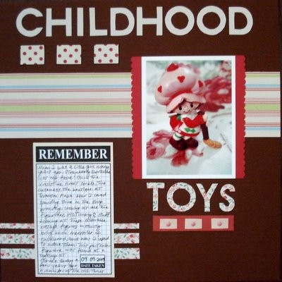 Childhood Toys Scrapbooking Layout