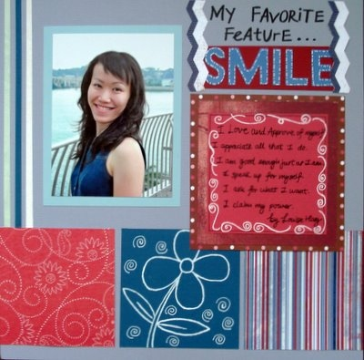 Favorite Feature Scrapbooking Layout
