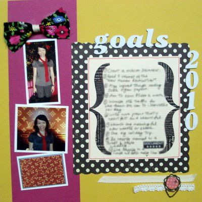 Goals for Next Year Scrapbooking Layout