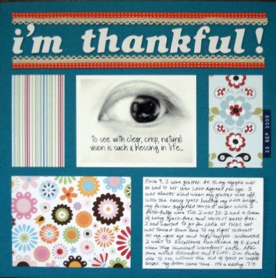 I Am Thankful Scrapbooking Layout