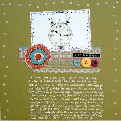 I Could Improve This Scrapbooking Layout