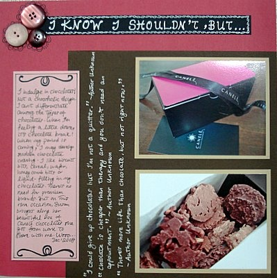 I Know I Shouldn't But... Scrapbooking Layout
