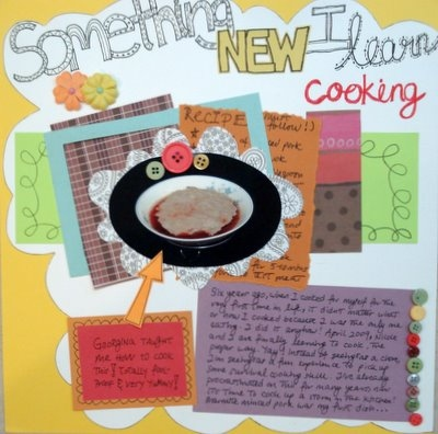I Learn Something New Scrapbooking Layout