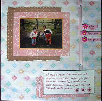 Scrapbook layout about my two younger girl cousins.