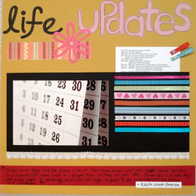 Life Updates Scrapbooking Idea