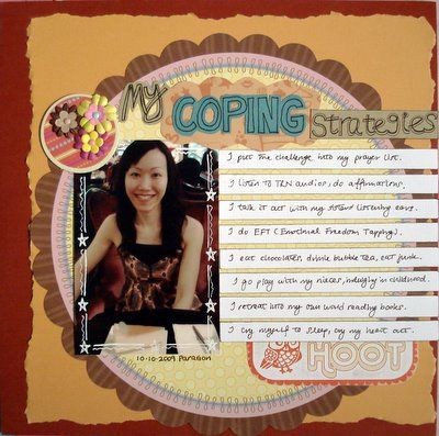 My Coping Strategies Scrapbooking Layout
