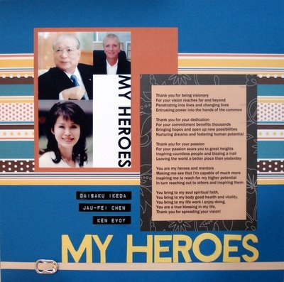 My Heroes Scrapbooking Layout