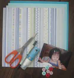 Basic scrapbook supplie