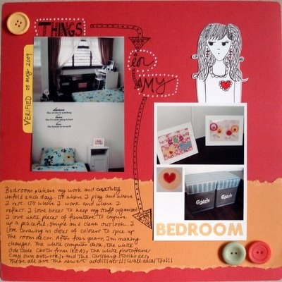 Things In My Bedroom Scrapbooking Layout