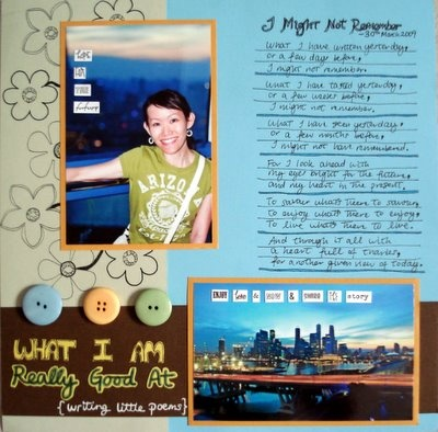 What I Am Really Good At Scrapbooking Layout