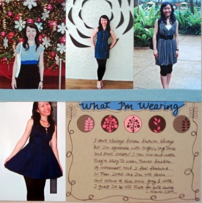 What I Am Wearing Scrapbooking Layout