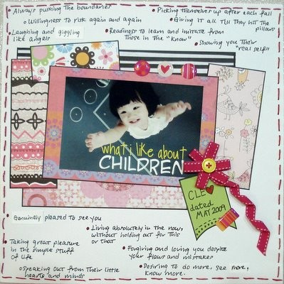 What I Like About Children Scrapbooking Layout