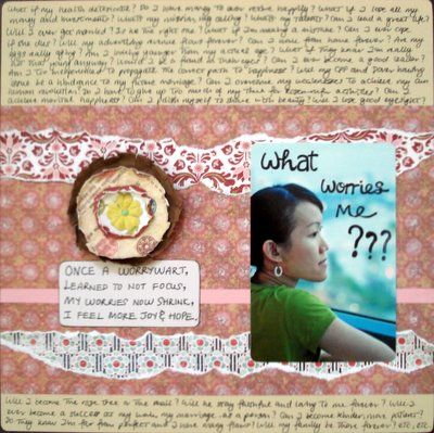 What Worries Me Scrapbooking Layout