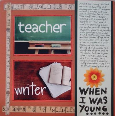 When I Was Young Scrapbooking Layout