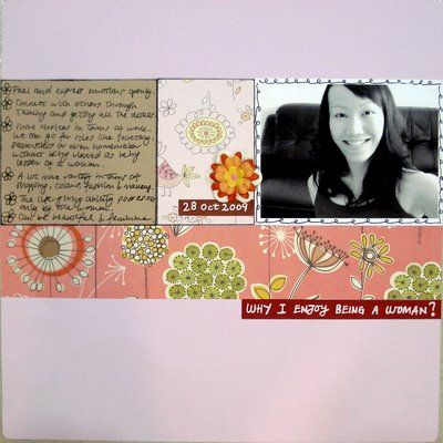 Why I Enjoy Being a Woman Scrapbooking Layout