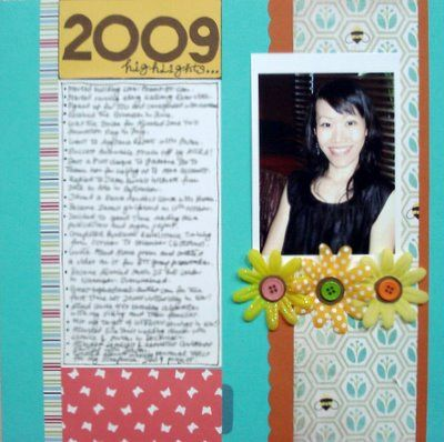 Year Review Scrapbooking Layout
