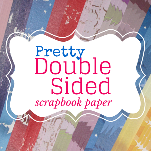 Pretty double sided scrapbook paper for your scrapbooking projects.