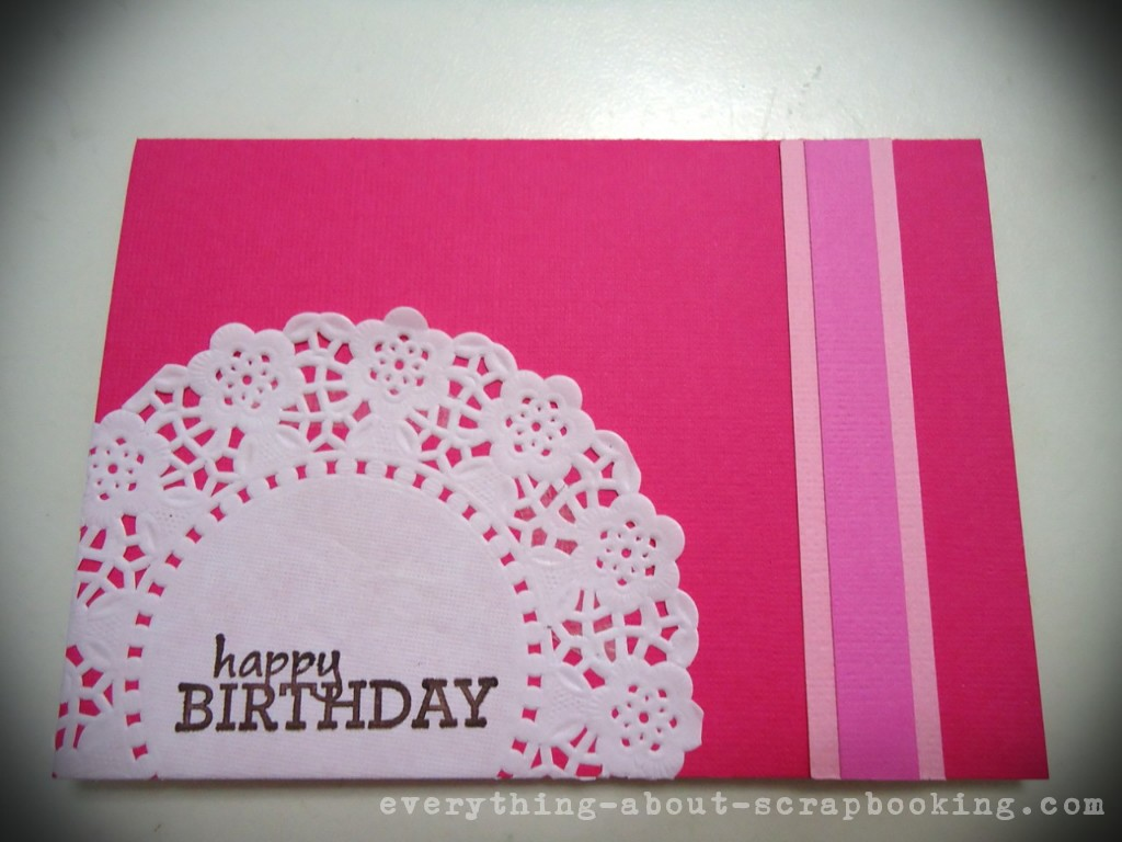 Adhered a layered strip down the right side of card.