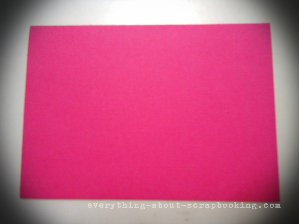 Create a card blank with pink card stock.