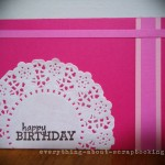 Hot pink scrapbooking card made with few supplies. Easy steps.