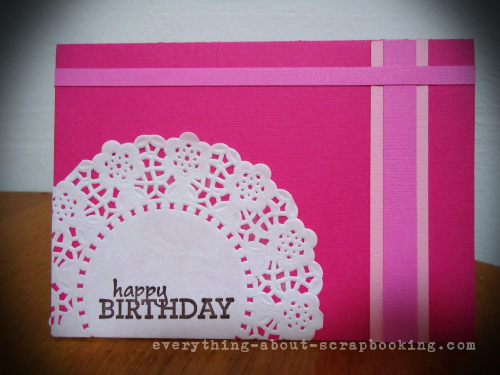Hot pink scrapbooking birthday card idea everything about hot pink scrapbooking card made with few supplies easy steps bookmarktalkfo Image collections