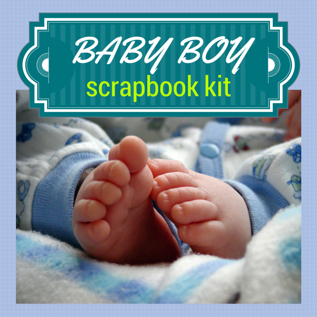 Baby boy scrapbook kit saves time and help you create beautiful layouts. A selection of scrapbooking kits.