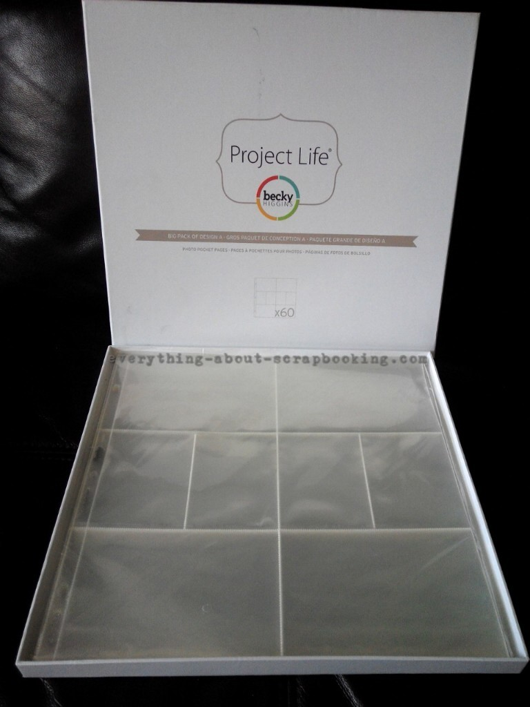 I bought the Big Pack of Design A for my Project Life Photo Pocket Pages.