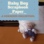 A gorgeous collection of baby boy scrapbook paper, paper packs/pads and kits.
