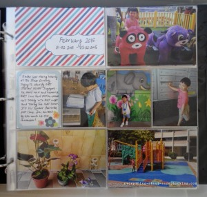 February 2015 pages of my Project Life scrapbook.