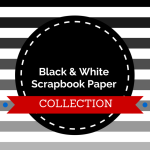 A collection of chic black and white scrapbook paper for your layouts, albums and projects.